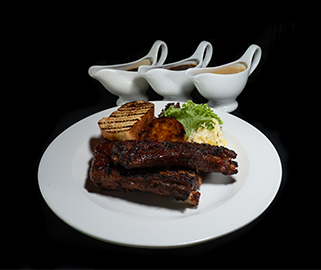 Grilled US Spareribs with Spicy Guinness Glaze